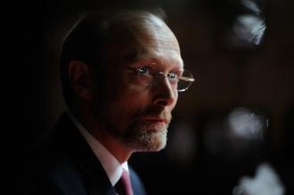 Lars Mikkelsen spiller skurken i det sidste afsnit af Sherlock - sæson 3. Foto: OLLIE UPTON