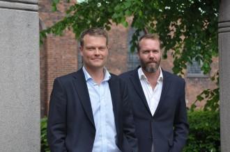 Jacob Weinreich og Anders Rønnow Klarlund er i gang med researchen til den 4. Bentzon-krimi. De arbejder også på en efterfølger til Forfølgerne. Foto: Rikke Andrup Jensen.