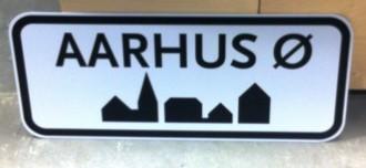 Væk er å'et i Aarhus, men byen har fået en ny bydel - Aarhus Ø.  Se, det er logik. Foto: Rebekka Andreasen