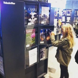 En sjov måde at opbevare tidsskrifter på. Foto: Rebekka Andreasen