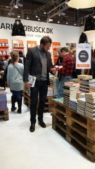 Også Dan Jørgensen (S) besøgte BogForum. Foto: Ellen Marie Andreasen