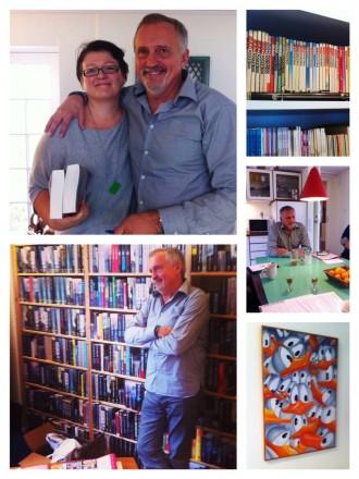 Jussi Adler-Olsens kontorvilla i Allerød afslører hurtigt, at her bor en succesrig forfatter og forretningsmand - med talent for at skrive bøger, folk gider læse. Og med hang til tegneserier, musik, farver og humor. Foto: Rebekka Andreasen
