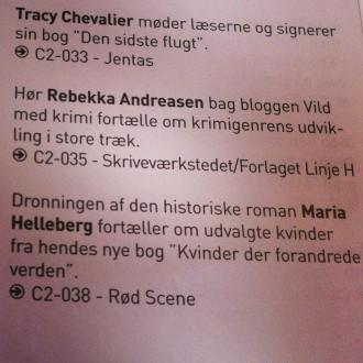 Kommer du forbi BogForum lørdag, så håber jeg vi ses 13.30 ved Skriveværkstedet/Forlaget LInje H's stand. Foto: Rebekka Andreasen