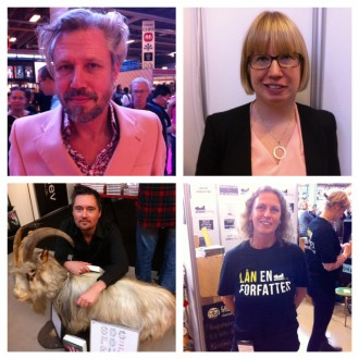 To svenske og to danske forfattere: Carl-Johan Vallgren, Kristina Ohlsson, Thomas Rydahl og Dorthe Annette Hansen