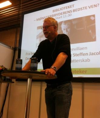 Steffen Jacobsen debuterede som kriminalforfatter i 2008 med kriminalromanen Passageren. Foto: Rebekka Andreasen