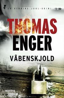 Skal du læse Thomas Engers krimier i rækkefølge, så begynd med Skinddød. Læs derefter Fantomsmerte, Blodrus og til sidst Våbenskjold.