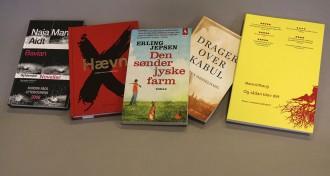 Disse fem bøger bliver delt ud over hele landet, når der den 23. april er Danmark Læser-dagen. Foto: Mette Udesen.