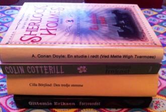Denne bunke er bøger, jeg planlægger at læse, når jeg tager i sommerhus. Hvad skal du læse hen over sommeren? Foto. Rebekka Andreasen.
