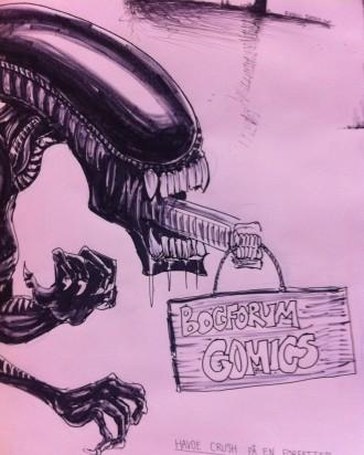 Det er sjovt at se comics-væggen udvikle sig time for time.