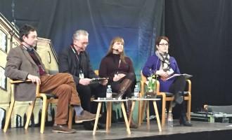 Fra Venstre: Bo Tao Michaëlis, Gunnar Staalesen, Kerstin Bergman og Nanna Rørdam Knudsen. Foto: Rebekka Andreasen